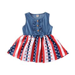 """Denim Flag"" 4th of July Dress"