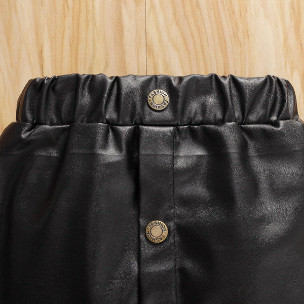 """Pleather and Tulle"" Skirt"