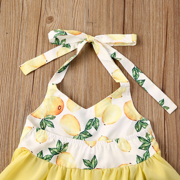 """Denim Lemon"" Halter Set"