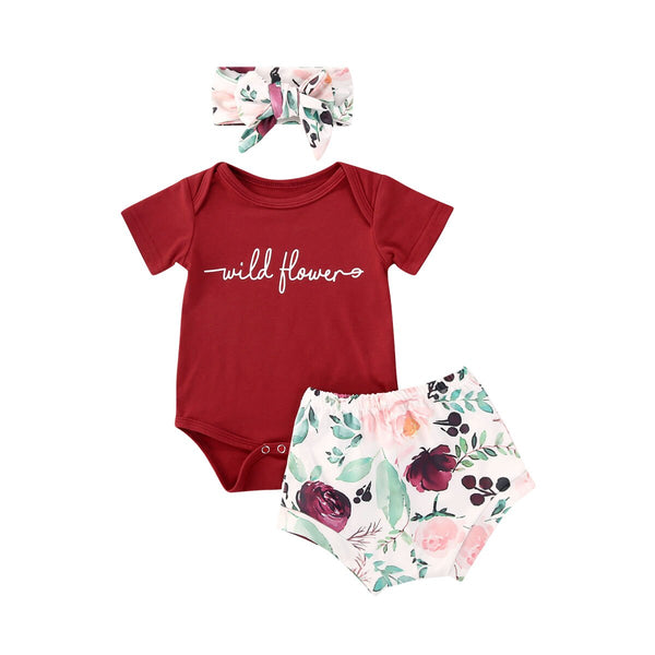 """Wild Flower"" Baby Bloomer Set"
