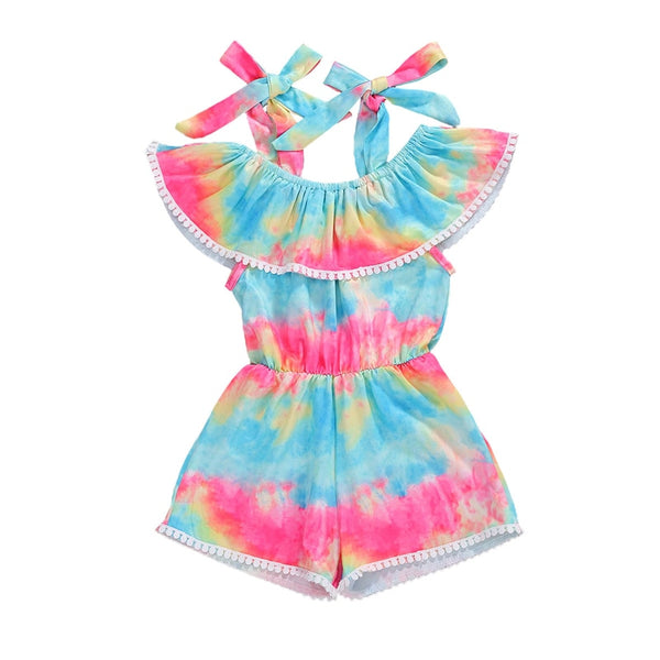 """Tie Dye"" Off-shoulder Summer Jumpsuit"