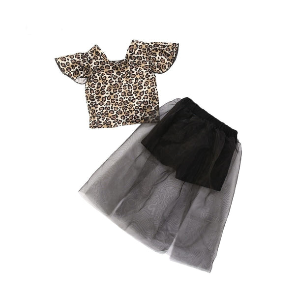 """Leopard and Tulle"" Tie Back Set"