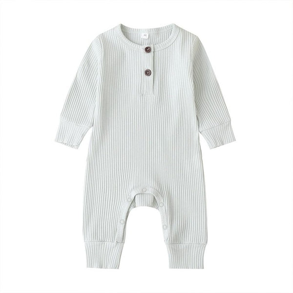 """Buttons"" Ribbed Romper"