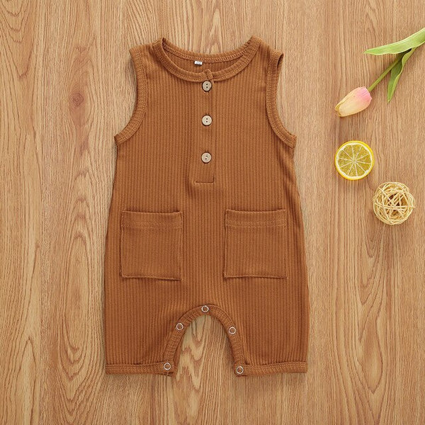 """Pockets"" Ribbed Romper"