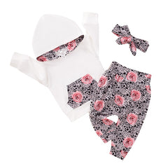"""Fall and Flowers"" Baby Hoodie Set"