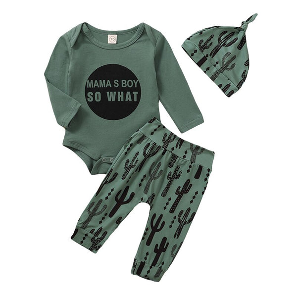 """Mamas Boy"" Cactus 3 Piece Set"