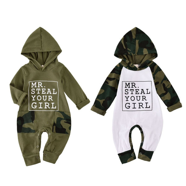 MR STEAL Camo Onesie