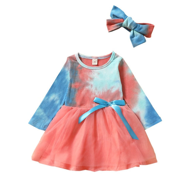 DYE AND LACE Girls Dress Set