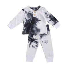 """Tie Dye"" Button and Ribbed Boys Set"