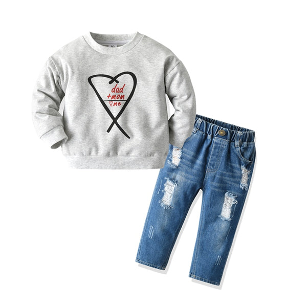 DAD and Mom Boys Denim Set