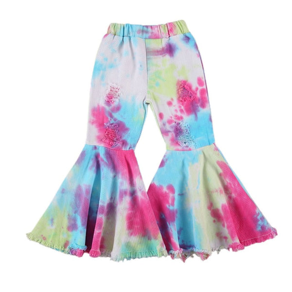 Bright Tie-Dye Bell Bottoms