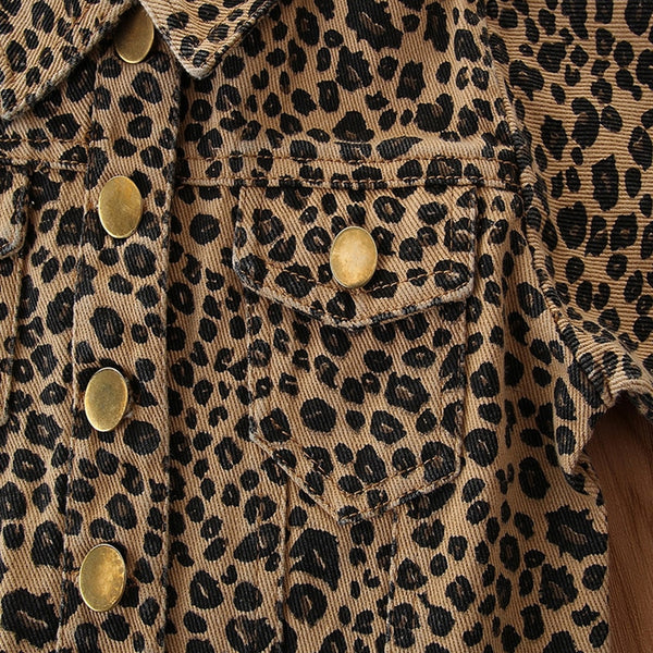 Cheetah Crop Jacket