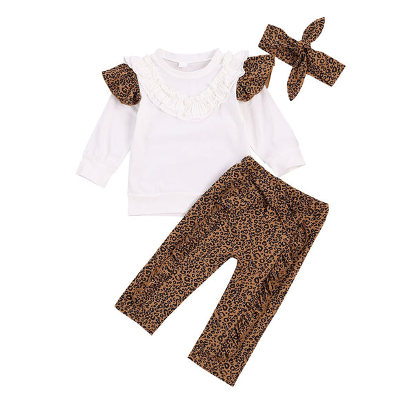 Cheetah Ruffles 3 Piece Set