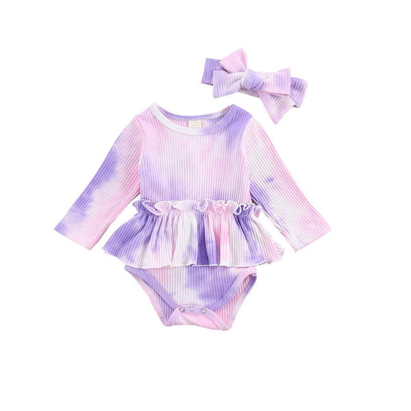 BELLE Tie Dye Skirt Bodysuit Set