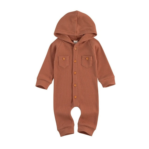 FALL Waffle Hooded Onesie