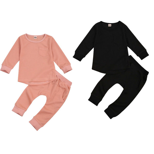 Solids Wafflewear Casual Set