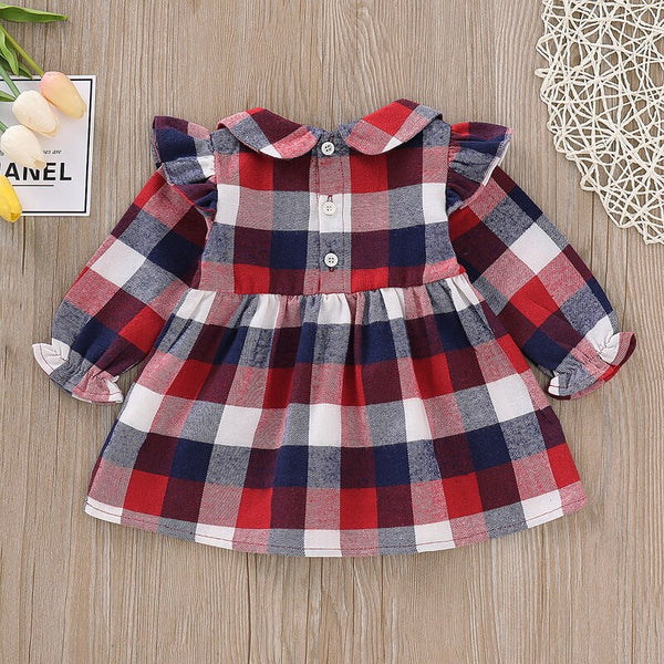 PRETTY IN PLAID Baby Dress