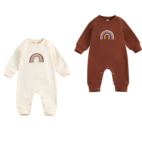 Rainbow Babe Natural Onesie