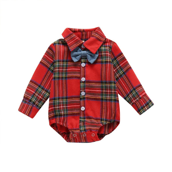 Plaid Christmas Bowtie Bodysuit