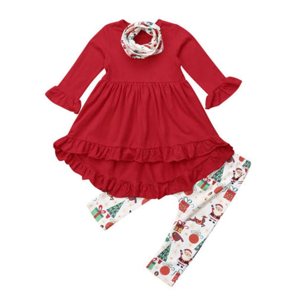Santa's Girl Ruffle Set