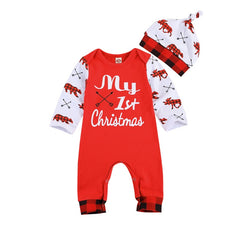 My 1st Christmas Boys Romper Set