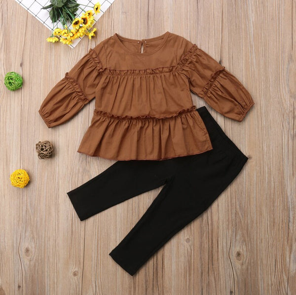FLOWER CHILD Ruffle Top Set