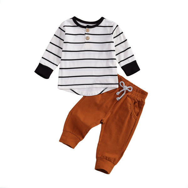 Buttons and Stripes Baby Boy Set