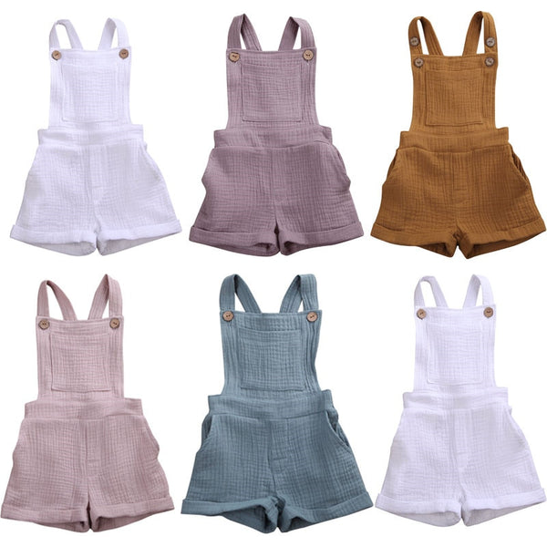 So Fresh Linen Bib Overalls