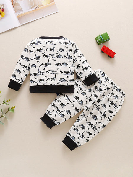 Black and White Dino Set