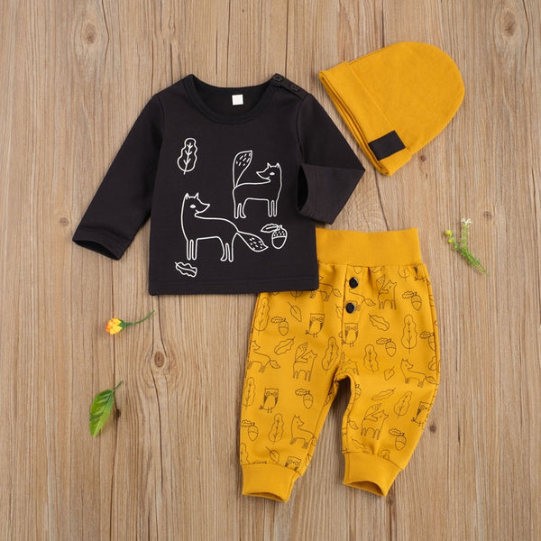 Friendly Foxes 3 Piece Set