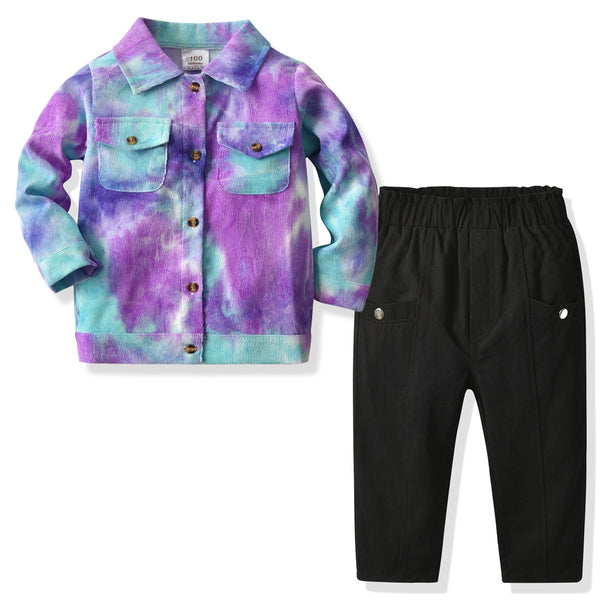 ACID WASH Boys Collared Set