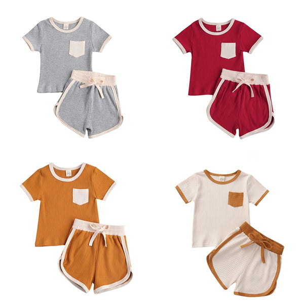 TrackBaby Retro Ribbed Set