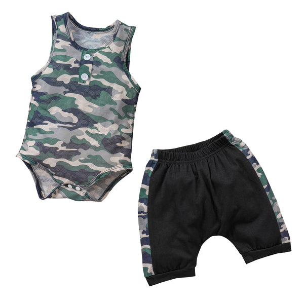 Button-Me Camo Tank Set