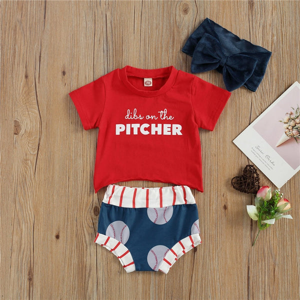 Pitcher 3 Piece Bloomers Set