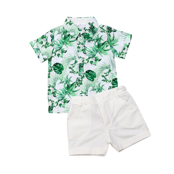 Palm Leaf Collared Summer Set