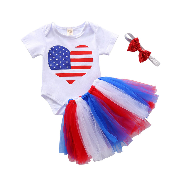 """HEART"" Fourth of July Tulle Set"