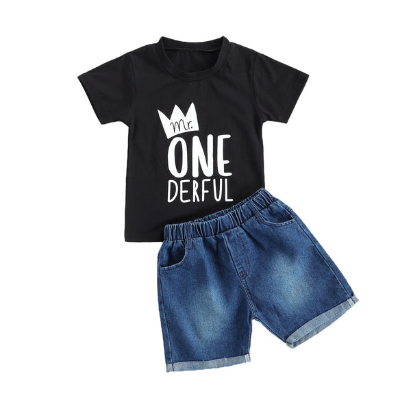 Mr. Onederful Denim Set