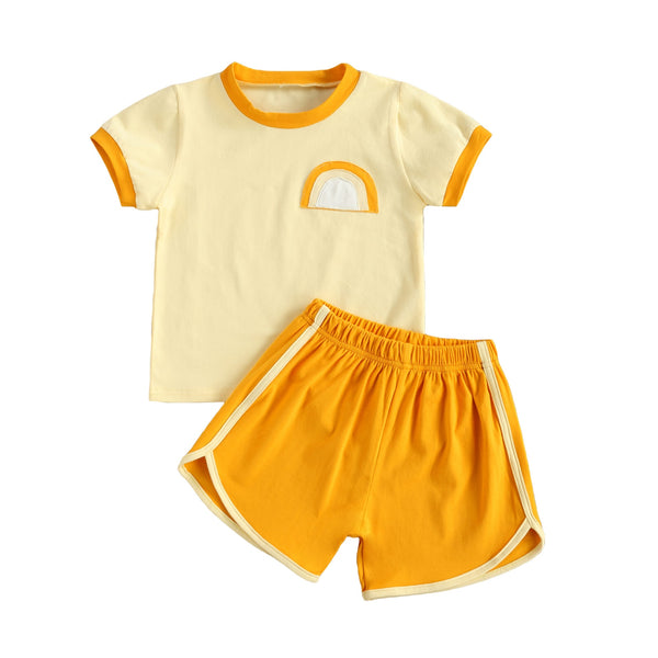 Yellow Rainbow Retro Set