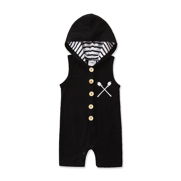 X-CROSS Baby Boy Hooded Romper