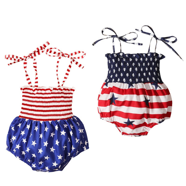Red, White and Blue Summer Jumpsuits