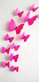 "12 Pieces 3D ""Butterflies"" Girls Wall Decal"