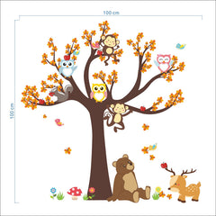 """Animals On A Tree"" Wall Decal"