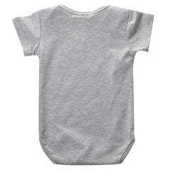 Gray Fox-Print Infant Bodysuit