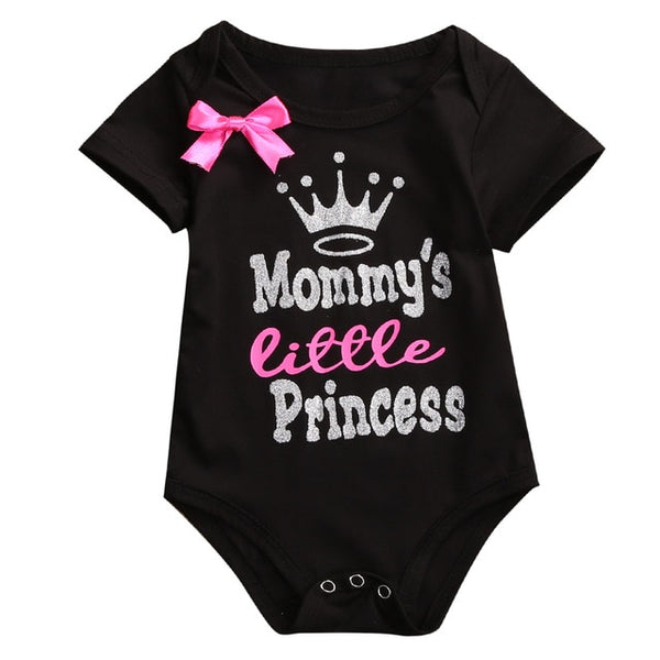 """Mommy's Little Princess"" Short-sleeve Bodysuit"