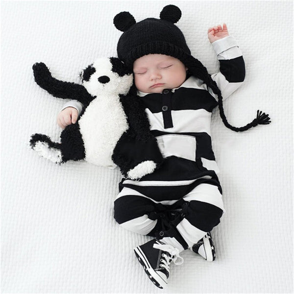 """Panda Stripes"" Onesie"