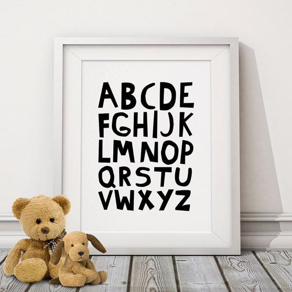 """Alphabet"" Letter Print Wall Art"