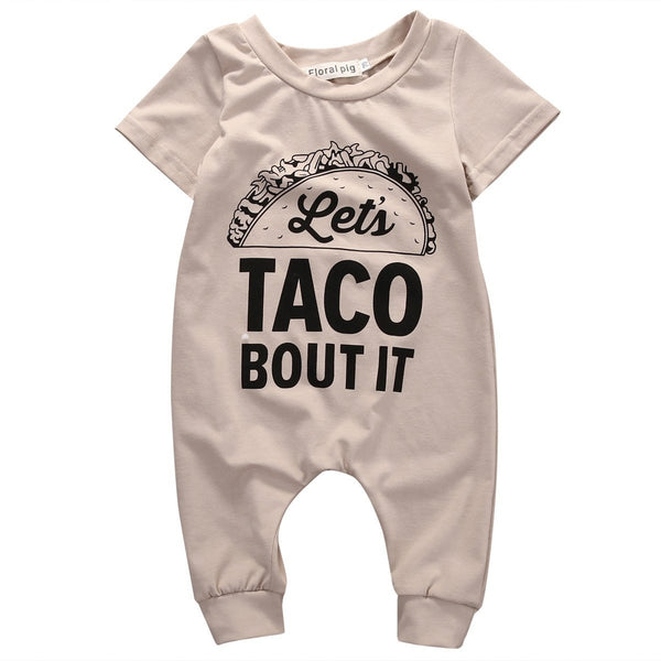 """Lets Taco Bout It"" Short-sleeve Bodysuit"