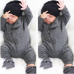 """Side-Zip""  Gray Onesie"