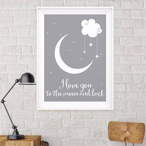 """I Love You to The Moon and Back"" Balloon Wall Art"