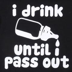 """I Drink Until I Pass Out"" Short-sleeve Bodysuit"